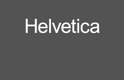 The word Helvetica set in Arial font