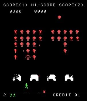 Space invaders + Berzerk mashup